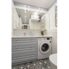 Комплект для ванной серебрянный
