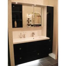 Комплект для ванной черный