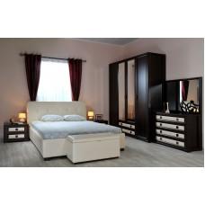 Комплект для спальни темно-кориченвый с белым