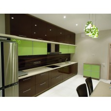 Кухня МДФ крашеный светло-салатовая