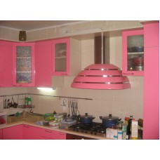 Кухня МДФ крашеный розовая
