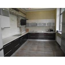 Кухня пленка белая с черным