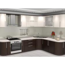 Кухня пленка белая дерево изгибы