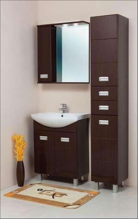 Комплект для ванной темно-коричневый