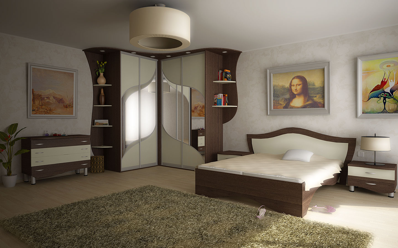 Комплект для спальни фигурный