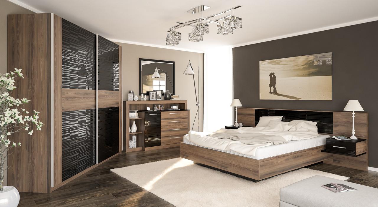 Комплект для спальни дерево и полосы
