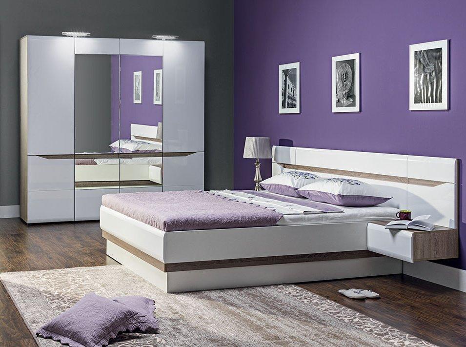 Комплект для спальни белый глянец