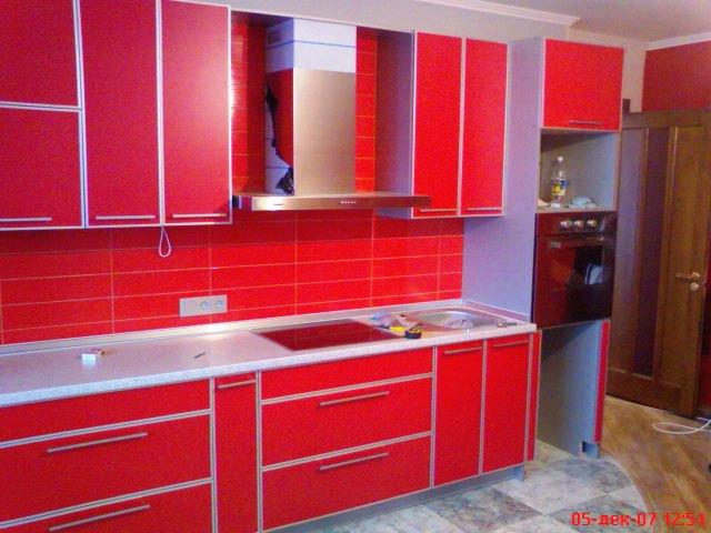 Кухня ДСП красная