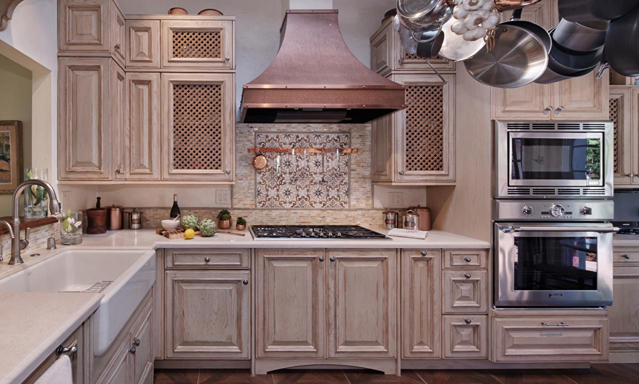 Кухня массив слоновая кость