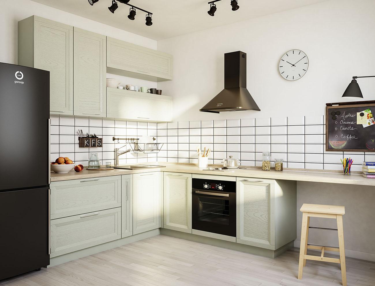Кухня массив белая