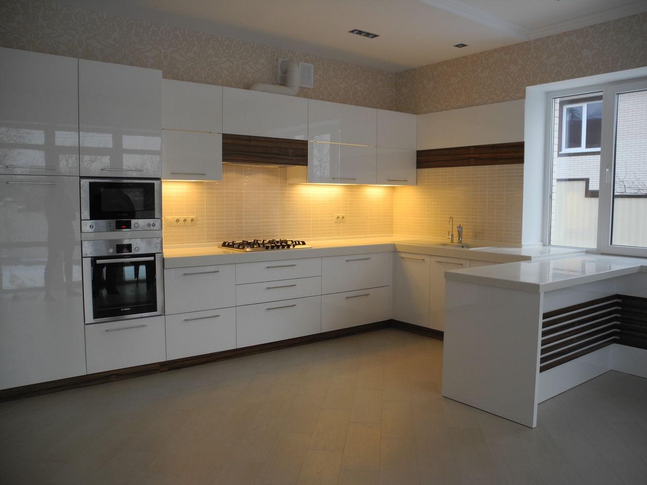 Кухня МДФ крашеный белая