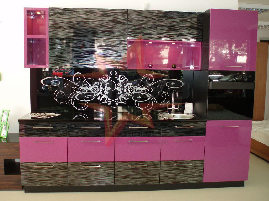 Кухня пленка розовая текстура