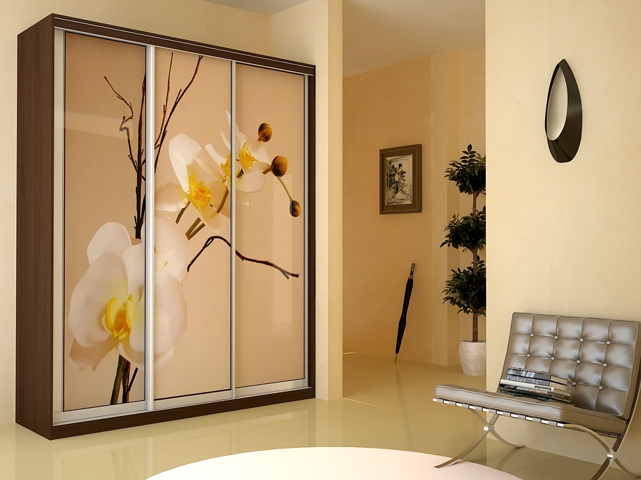 Шкаф-купе орхидея