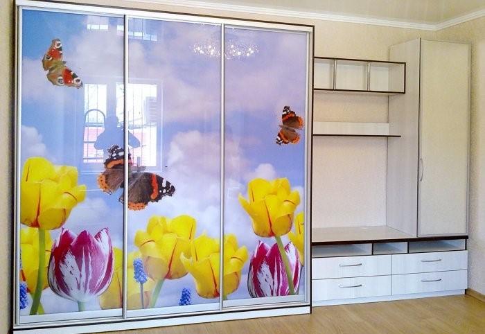 Шкаф-купе тюльпаны